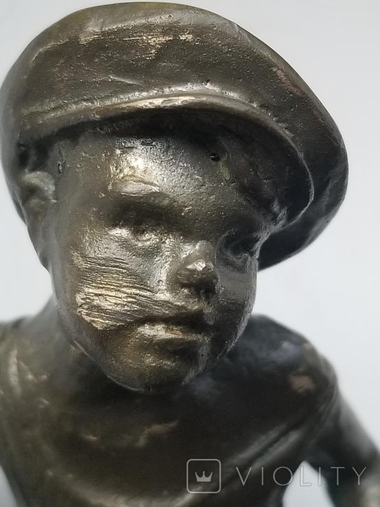 Бронзовая статуэтка вратарь, фото №8