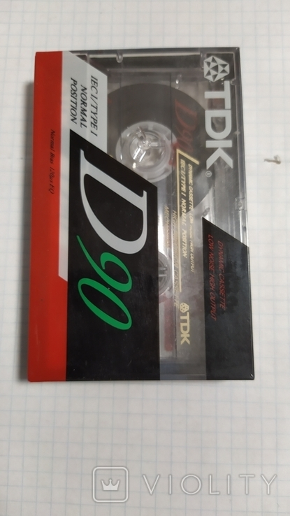 Кассета ТДК. Запечатанная., фото №3