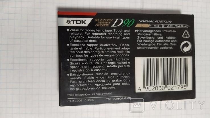 Кассета ТДК. Запечатанная., фото №5