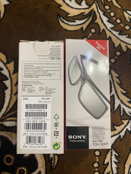 Лот 2 шт пасивні 3Д окуляри Sony Original