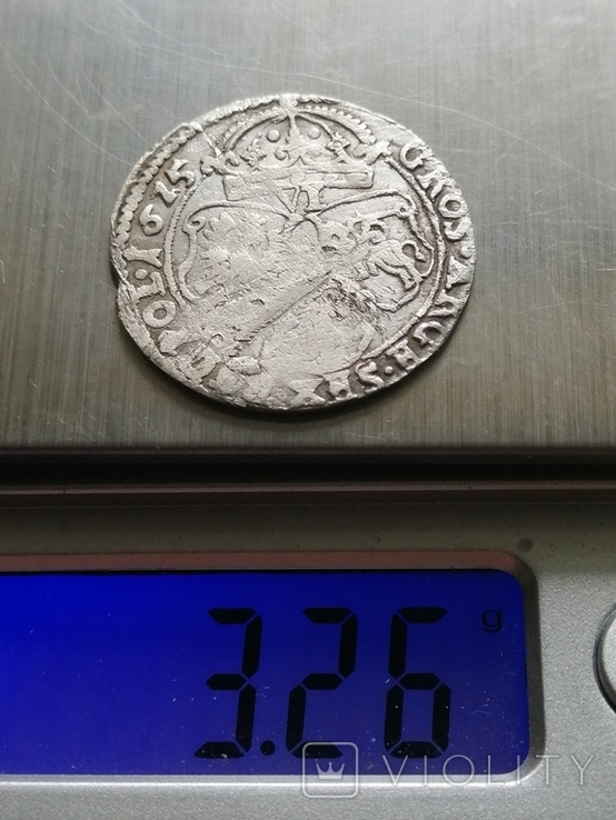 Шестак, 1625 року Сигизмунд - III, Серебра(Аg)3.26 грамма, фото №2