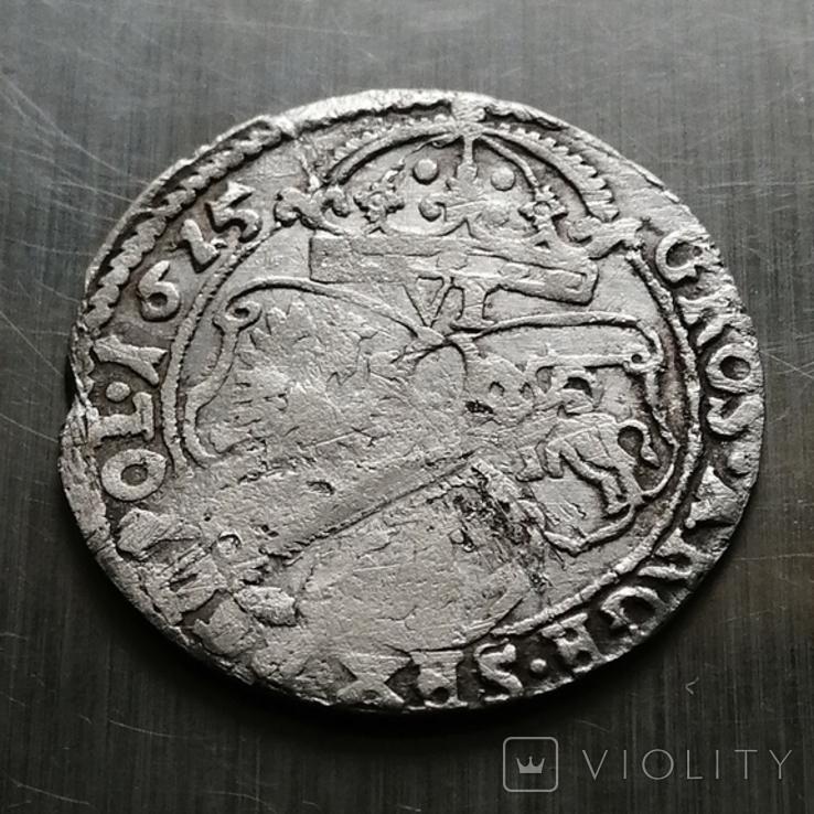 Шестак, 1625 року Сигизмунд - III, Серебра(Аg)3.26 грамма, фото №6
