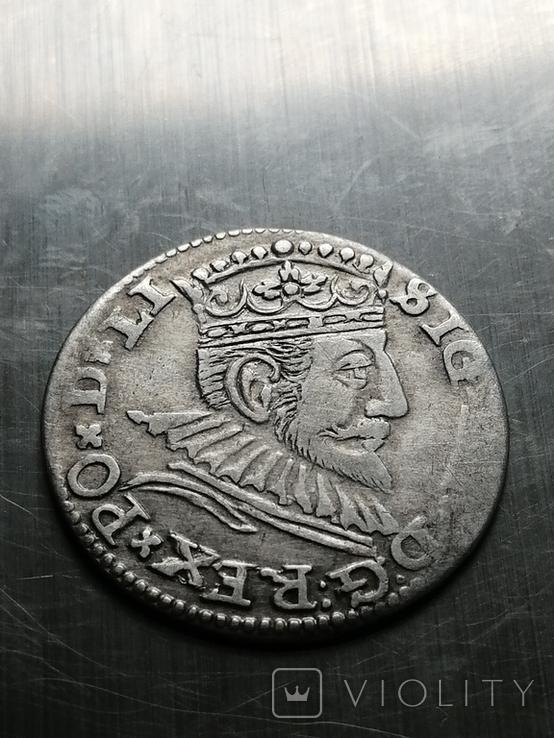 Трояк Рига, 1592року. Срiбло, (Аg) 2.32 грамма., фото №6
