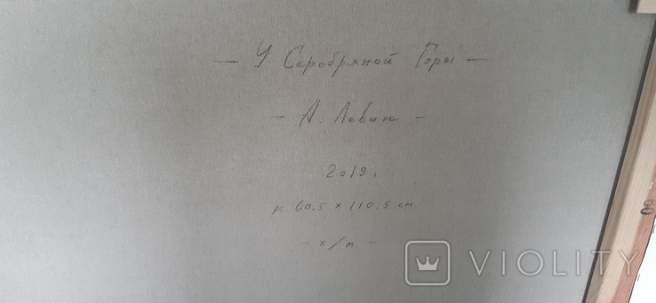 """У Серебряной Горы"" 2019 год. Холст масло 60.5х110.5 Левин А., фото №11"