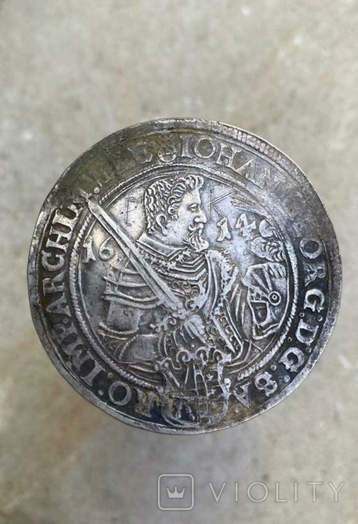 Талер Иоанна Георга 1614 года, Саксония( повторно в связи с не выкупом), фото №3