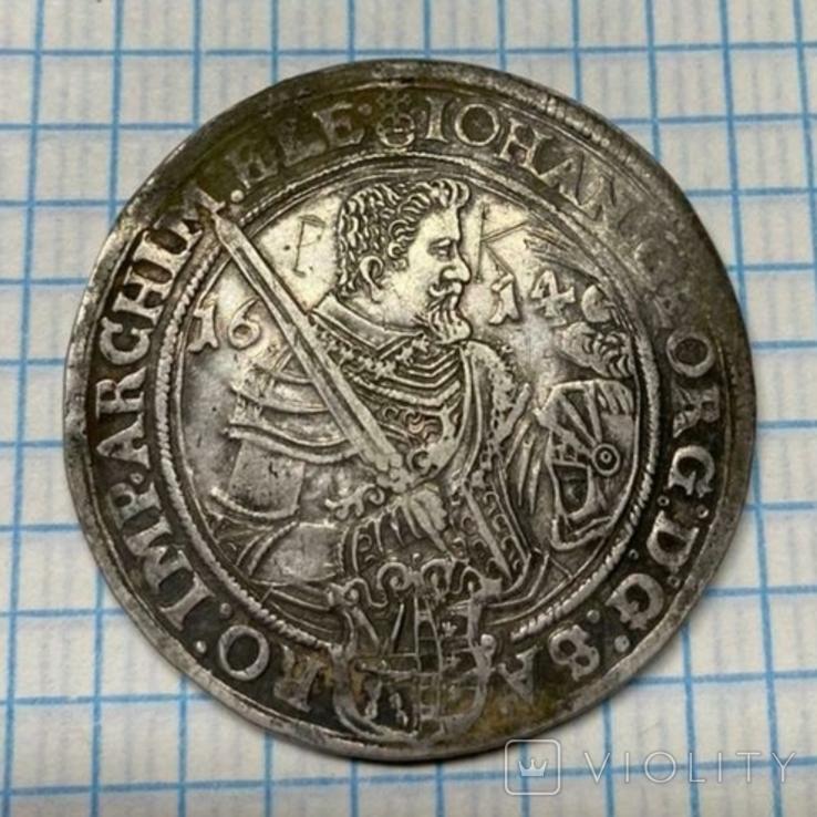 Талер Иоанна Георга 1614 года, Саксония( повторно в связи с не выкупом), фото №8