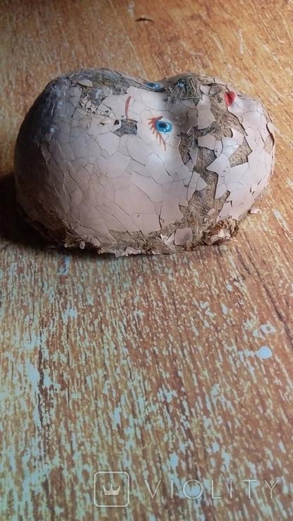 Лицо от ватной фигуры снегурочки, опилки, фото №10