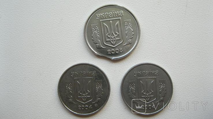 """Монеты 1 копейка 2004 год 1.1 ВА + монета 2 копейки с браком """"выкус"""", фото №3"""