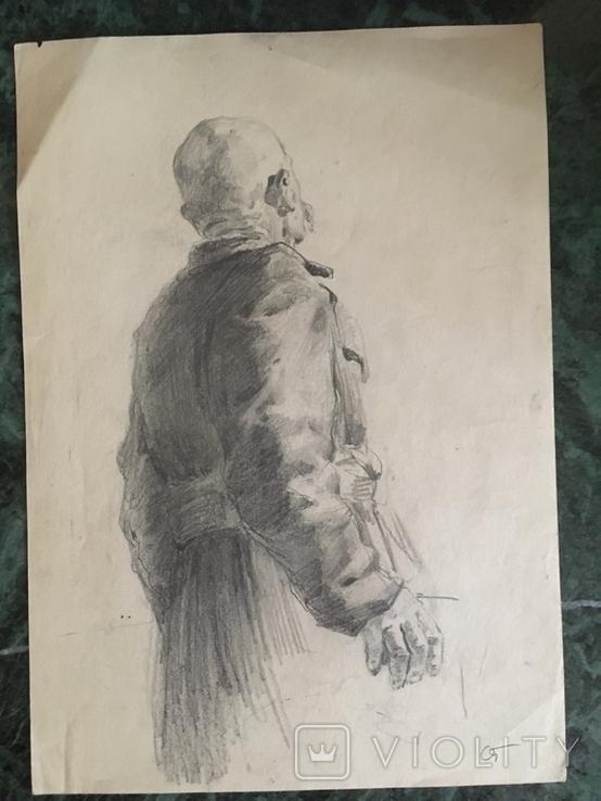 Александр Губарев, эскиз к работе 1953 года, 20/29 см., фото №2