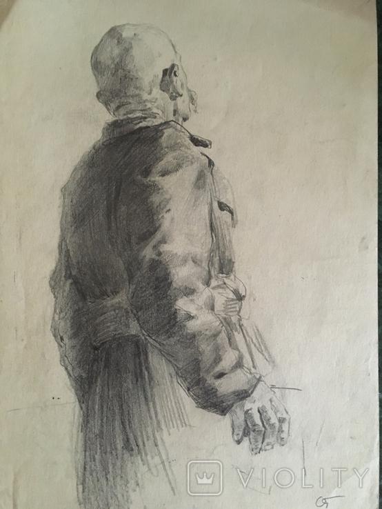 Александр Губарев, эскиз к работе 1953 года, 20/29 см., фото №3