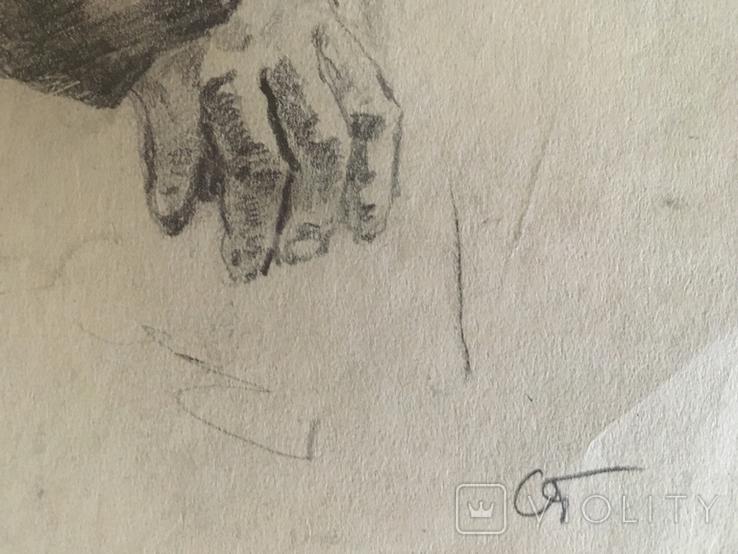 Александр Губарев, эскиз к работе 1953 года, 20/29 см., фото №4
