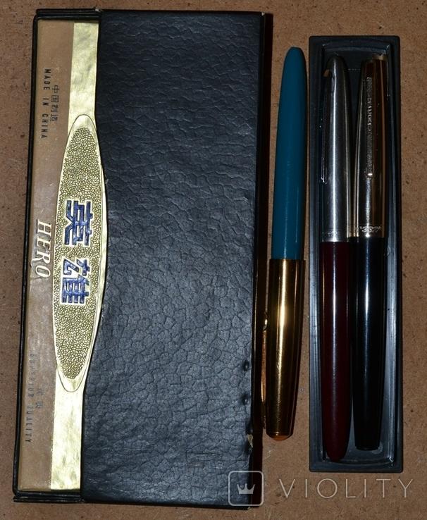 Ручки перьевые - Китай(Hero, Heero, Youth) ,5шт.., фото №2