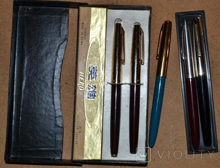 Ручки перьевые - Китай(Hero, Heero, Youth) ,5шт.., фото №3