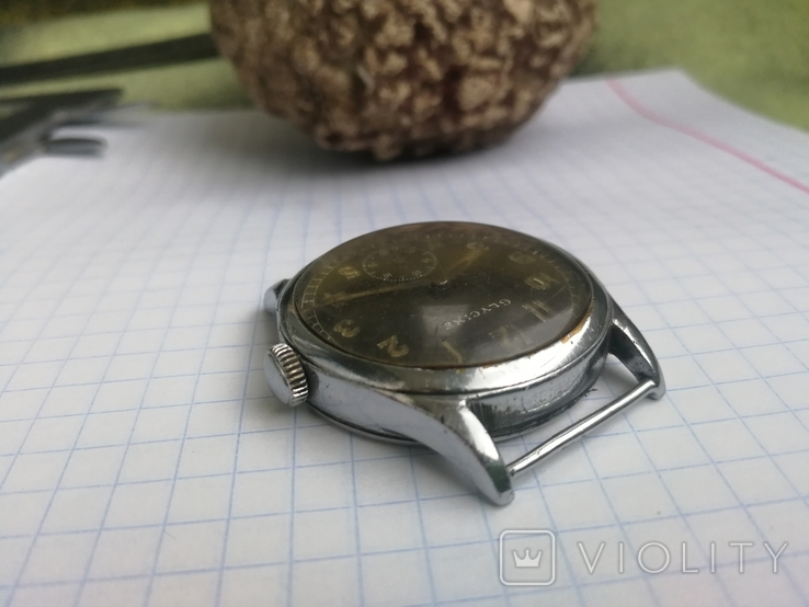 Военные WW2 Glycine наручные часы немецкая армия, фото №9