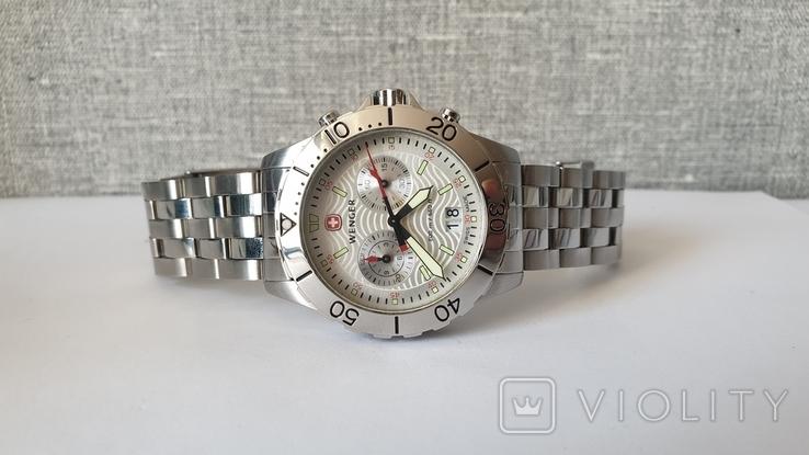 Мужские часы Wenger 7085x AquaGraph Chrono 41mm 200m Swiss Made, фото №3