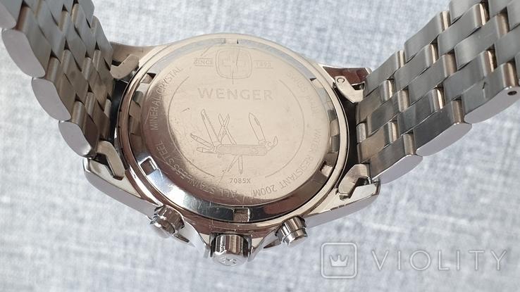 Мужские часы Wenger 7085x AquaGraph Chrono 41mm 200m Swiss Made, фото №10