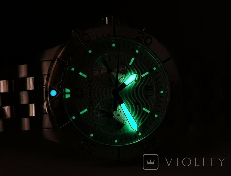 Мужские часы Wenger 7085x AquaGraph Chrono 41mm 200m Swiss Made, фото №12