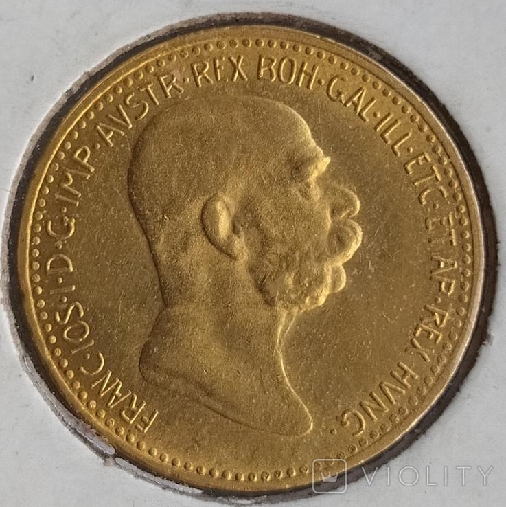 10 корон Австро-Угорщини-1909року., фото №3