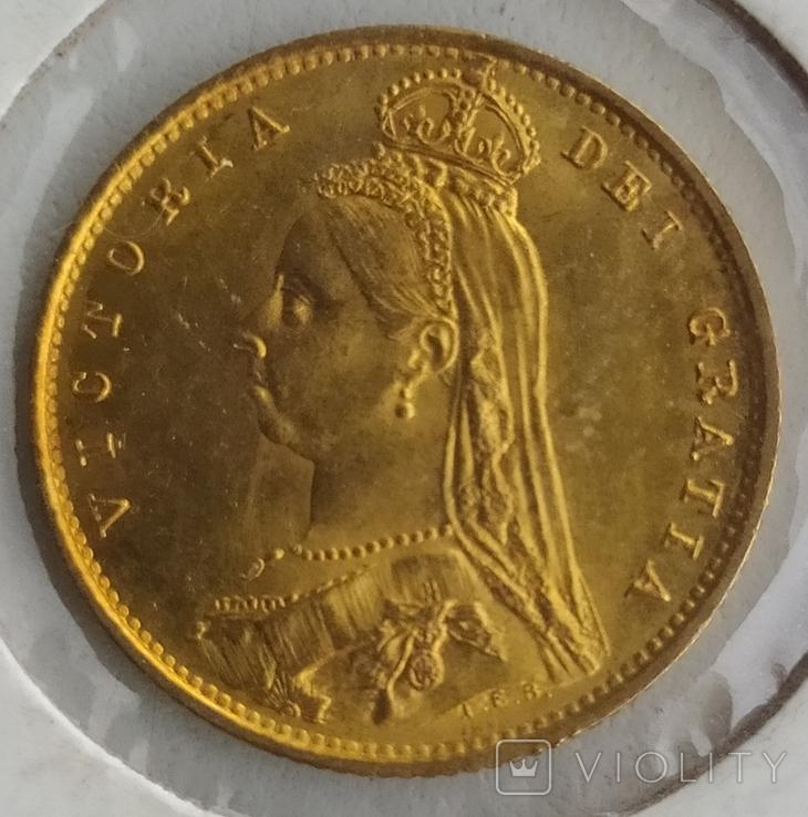 1/2 фунта Великобританія (напівсуверен) Королева Вікторія-1887року, фото №6