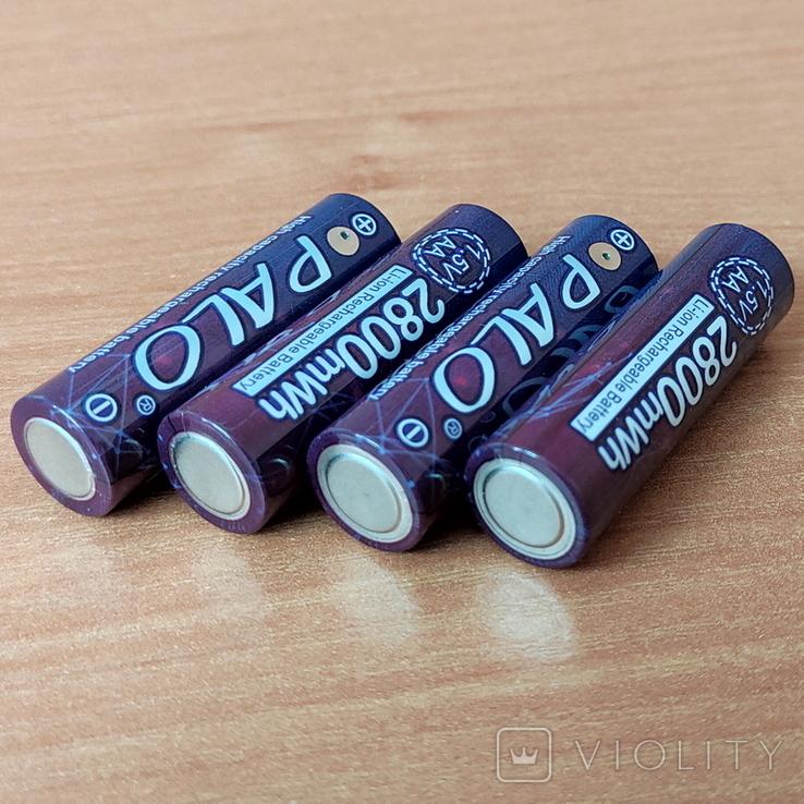 Пальчиковые аккумуляторы АА на 1,5 вольта - 4 шт., фото №5