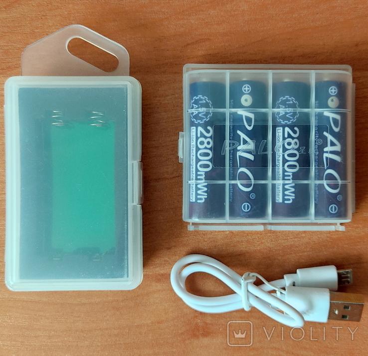 Пальчиковые аккумуляторы АА на 1,5 вольта - 4 шт., фото №6