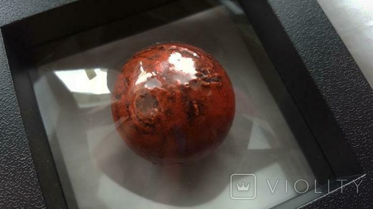 В наличии / Марс сферическая монета 1 Oz. 5 Барбадос 2021 SPHERICAL MARS 3D Planet 1 унция, фото №5