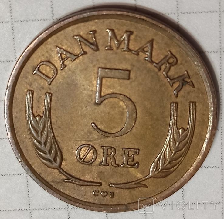 Дания 5 оре 1963, фото №2