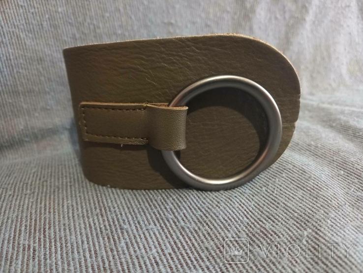 Ремень кожаный сделано в Италии, фото №3
