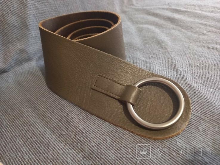 Ремень кожаный сделано в Италии, фото №2