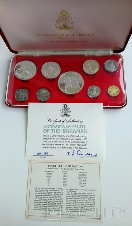 Набор монет 1975г Багамы., фото №3