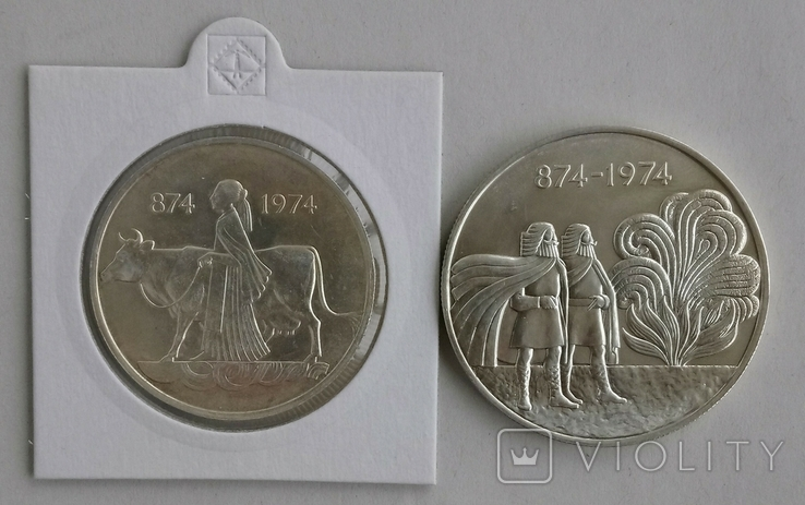 500и1000крон 1974г Исландия., фото №2