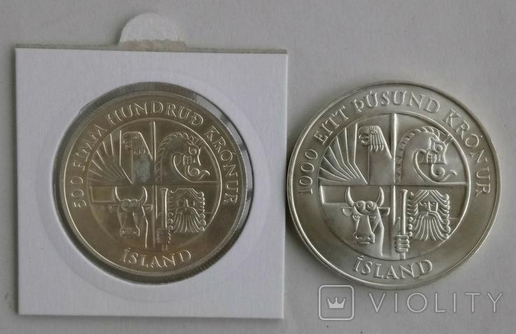 500и1000крон 1974г Исландия., фото №3