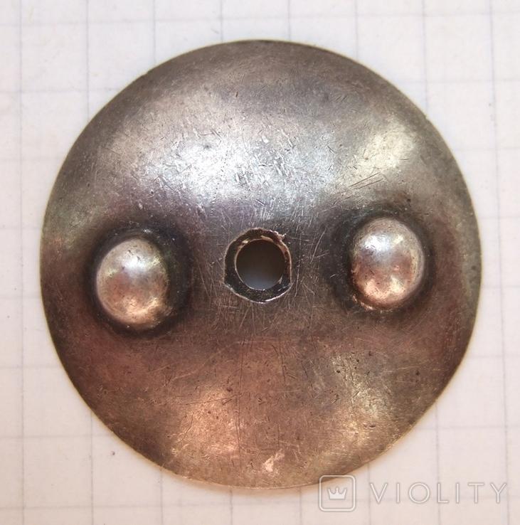 Серебряная закрутка для ранних орденов однофланцевая. Резьба М4, диаметр 32 мм