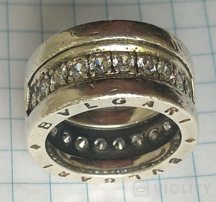 Кольцо. Bulgari. Серебро. 925, трезуб., фото №4
