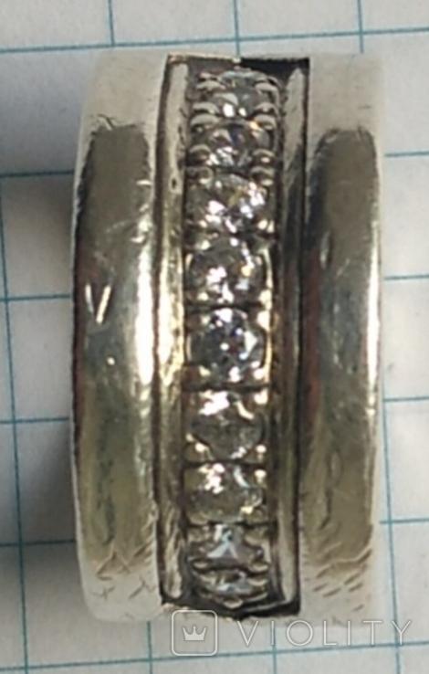 Кольцо. Bulgari. Серебро. 925, трезуб., фото №6