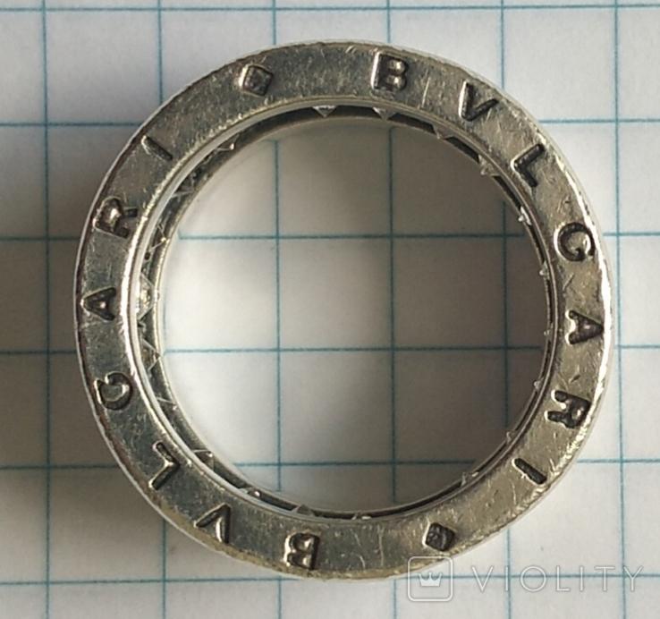Кольцо. Bulgari. Серебро. 925, трезуб., фото №8