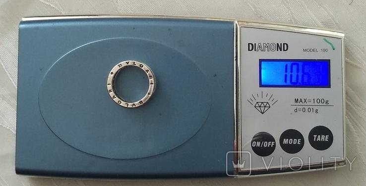 Кольцо. Bulgari. Серебро. 925, трезуб., фото №9