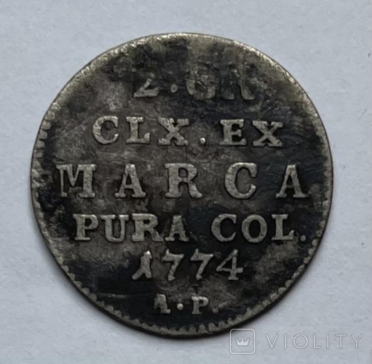 Польша 2 серебряных гроша, 1774, фото №2