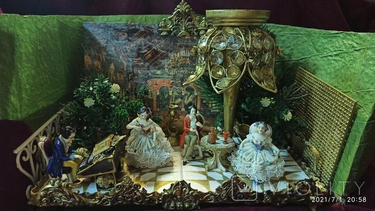 """Композиция """"Концерт в замке Neuschwanstein"""", XIX век, Aelteste Volkstedt, Германия, фото №2"""