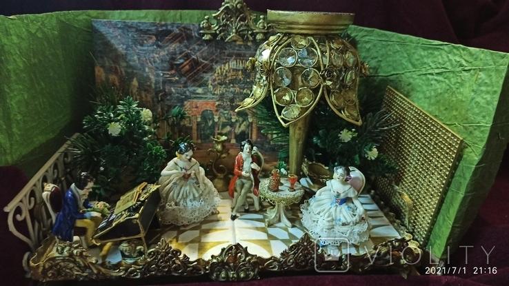 """Композиция """"Концерт в замке Neuschwanstein"""", XIX век, Aelteste Volkstedt, Германия, фото №9"""