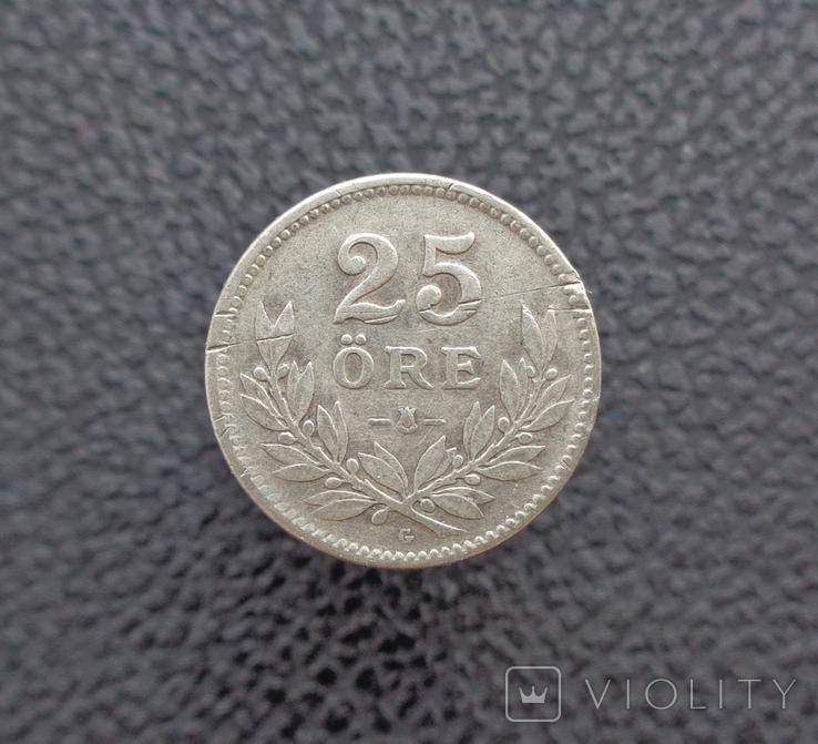Швеция 25 эре 1931 серебро, фото №2