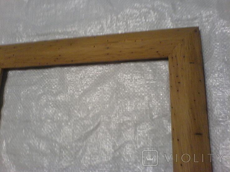 Рамка и под картину под старину (шашелем побитая) з натурального дуба формат А4, фото №3