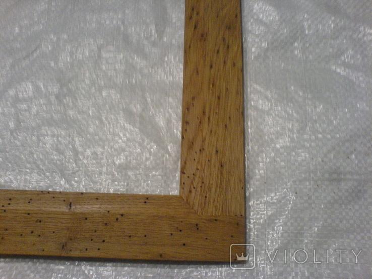 Рамка и под картину под старину (шашелем побитая) з натурального дуба формат А4, фото №7