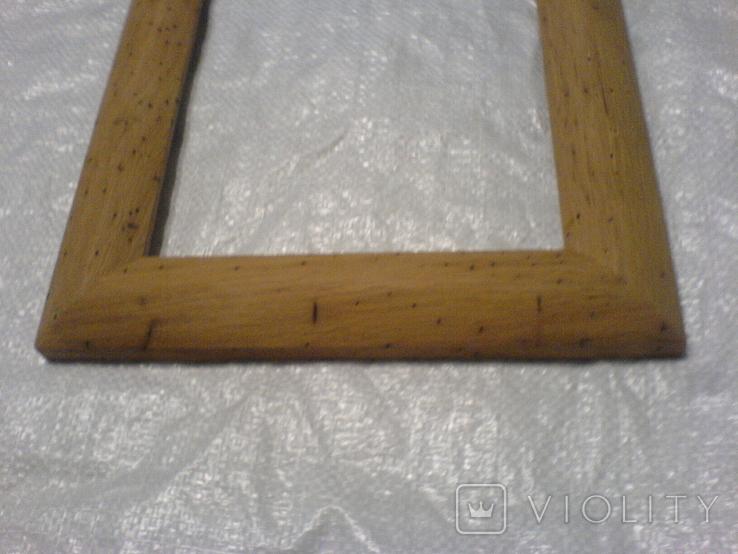 Рамка и под картину под старину (шашелем побитая) з натурального дуба формат А4, фото №9