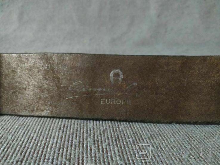 Ремень с массивной пряжкой Толстая кожа Европа, фото №9