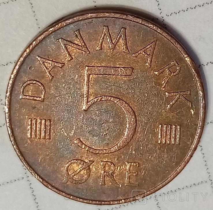 Дания 5 оре 1977, фото №2