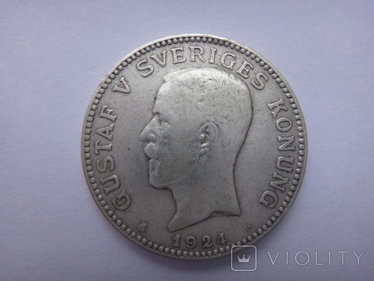 1 крона Королевства Швеции 1924, фото №2