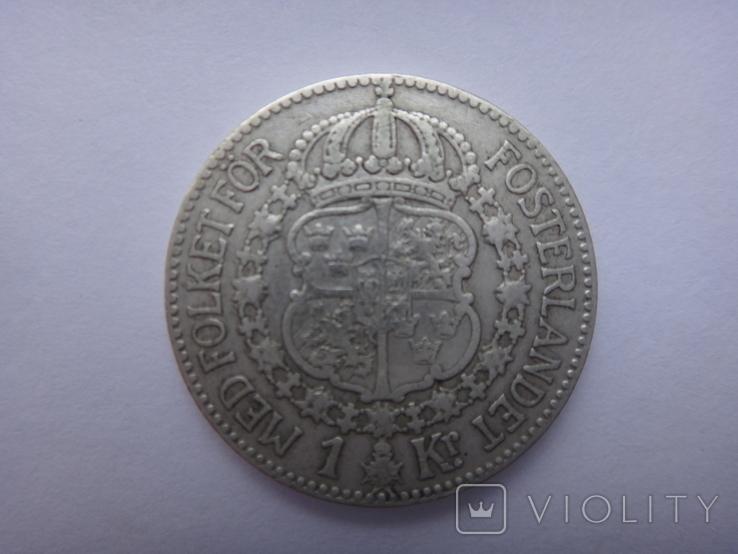 1 крона Королевства Швеции 1924, фото №3