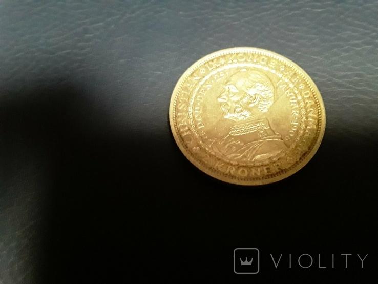 Дания, 2 кроны 1906г. юбилейные, фото №5