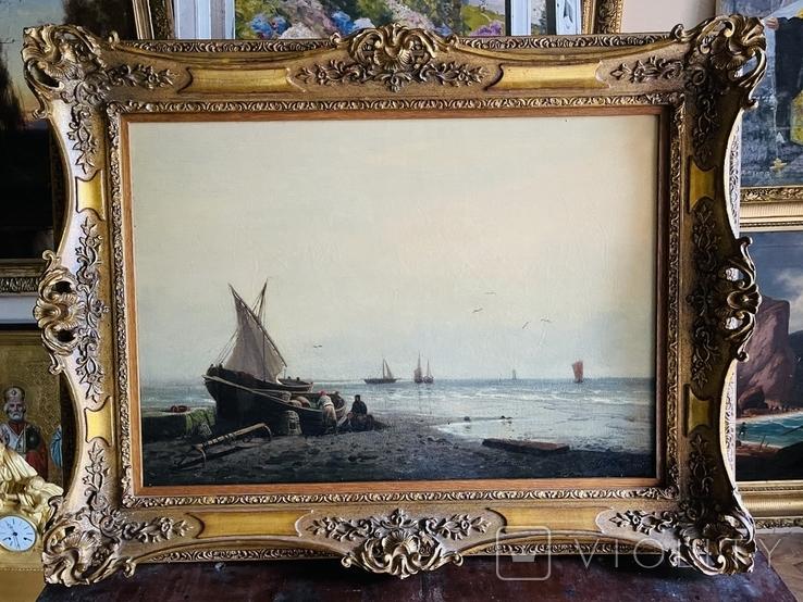 Рыбаки с уловом 19 век, фото №2